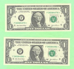 """(2) 2003a """" F """" STAR notes consecutive numbers......"""