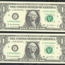 """(2) 2003a """" C """" STAR notes consecutive numbers......"""