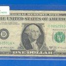 """1969b """" D """" STAR $1.00 FRN"""