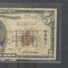 "1929 $5.00 National "" PITTSBURGH, PA ""  335544  FANCY #"