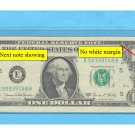 CUTTING error ERROR note, $1.00 FRN  with misaligned