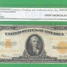 1922 GOLD certificate CGA CU-60  $10.00