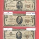 Portsmouth, VA  Series 1929 Denom Set $5, $10, $20