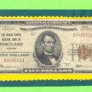 "Portland, OR - $5 1929 "" FORBIDDEN TITLE "" The United States NB Ch. # 4514"