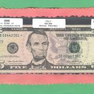 "== Series Key == 2006 "" E "" star note $5.00 FRN  IE00442351*"