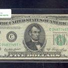 """1950A  """" C """"  STAR $5.00 FRN  C04877457*"""