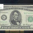 "1950A  "" G ""  STAR $5.00 FRN  G07428666*"