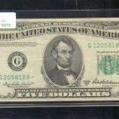 """1950B  """" G """"  STAR $5.00 FRN  G12058189*"""