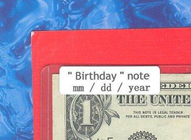 ~~ Birthday note ~~ == Nov  29, 1983 ==  cool note