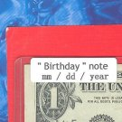 ~~ Birthday note ~~ == Aug   01, 1995  ==  cool note