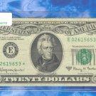 """1963a """" E """" STAR $20.00 = E02615653*"""