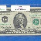 "1976 "" E "" STAR $2.00 FRN = E00558305*"