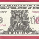 THREE dollars = Novelty note IMD1WAHON