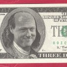 3 dollars = Novelty note  OICU812