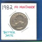 1982 NO mintmark = ERROR = better date