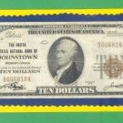 "Johnstown, PA - $10 1929 "" FORBIDDEN TITLE "" The United States NB Ch. # 5913"