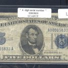 LOW NUMBER== 0000 5833 ==  $5.00 Silver Cert = Series 1934