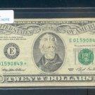 """1993  """" E  """" STAR $20.00 = E01590849*"""