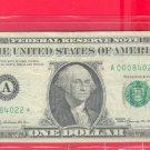"""1969  """" A """"  STAR $1.00 FRN = A00084022*  zip code  Dugway UTAH"""