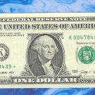 """~ 2009 ~ $1.00 """" K """" == STAR = = 640K printed == K00478439*"""