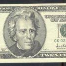 """2001 """" G """" STAR $20.00 CG02698736*"""