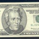 """1999 """" L """" STAR $20.00 BL02565803*"""