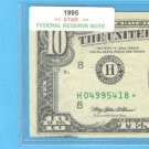 "1995 "" H "" STAR $10.00 FRN = H04995418*"