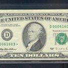 "1995 "" D "" STAR $10.00 FRN = D00061603*"