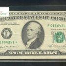 "1981 "" F "" STAR $10.00 FRN = F01864241*"