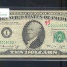 "1974 "" I "" STAR $10.00 FRN = I02009322*"