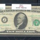 "1969C "" J "" STAR $10.00 FRN J02125980*"