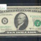 """1969C """" B """" STAR $10.00 FRN B16612910*"""