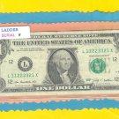 $1.00 == RADAR ~~ LADDER ~~ L 11223321 X