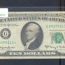 "1963A "" G "" STAR $10.00 FRN G09375113**"