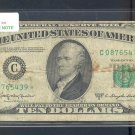 "1950D "" C "" STAR $10.00 FRN C08765439*"