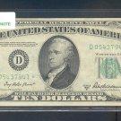 """1950B """" D """" STAR $10.00 FRN D05437941*"""