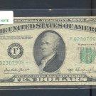 """1950A """" F """" STAR $10.00 FRN F02307908*"""