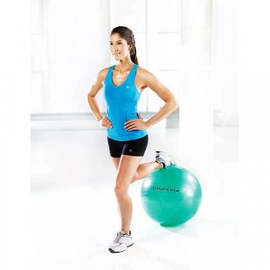 NEW 55cm WORKOUT EXERCISE FITNESS YOGA PILATES SWISS GYM BODY BALL KIT SET