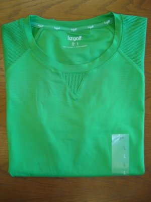 LIZGOLF LIZ CLAIBORNE WOMENS LARGE L GREEN GOLF TENNIS SHIRT TOP NEW NWT