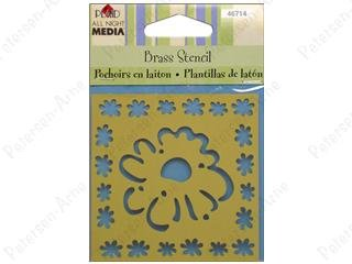 All night media - daisy frame brass stencil