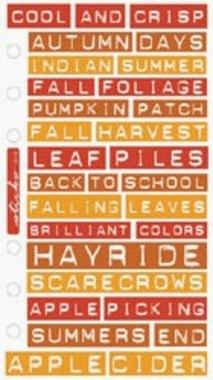 Sticko label lingo - autumn