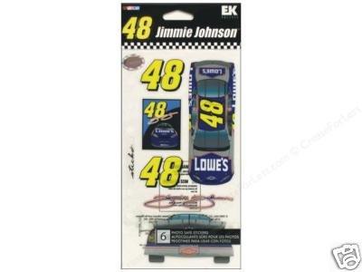 Nascar Jimmie Johnson  car stickers