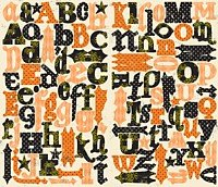 Making Memories Spellbound Alpha Chipboard Letters