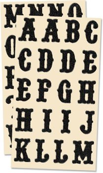 Junkitz glitterz - black letters