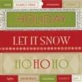 Junkitz homespun holiday chipboard titlez