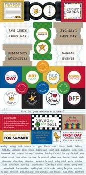 Junkitz  school days cardstock stickers