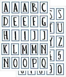 Junkitz  transparency alphabet stickerz - blue