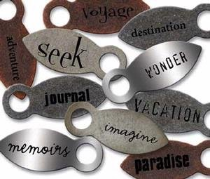 Junkitz Tim Holtz metalz large photo anchorz - destination