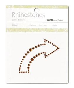 KAISERscrapbook Rhinestones curved arrow