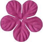 """Bazzill Paper Flowers 1.75"""" -tropical bubble gum"""